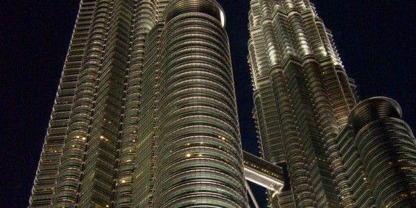 Petronas twin towers at nite